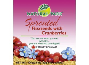 Sprouted Flaxseeds - Cranberries 100g