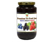 Premium Tri-Fruit Jam: Blueberry, Blackberry & Strawberry 500ml