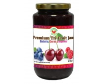 Premium Tri-Fruit Jam: Blueberry, Cherry & Raspberry 500ml