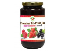 Premium Tri-Fruit Jam: Raspberry, Strawberry & Blackberry 500ml